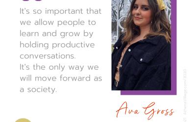 Meet Ava Gross (she/her/hers) 💃  Self-identified Changemaker