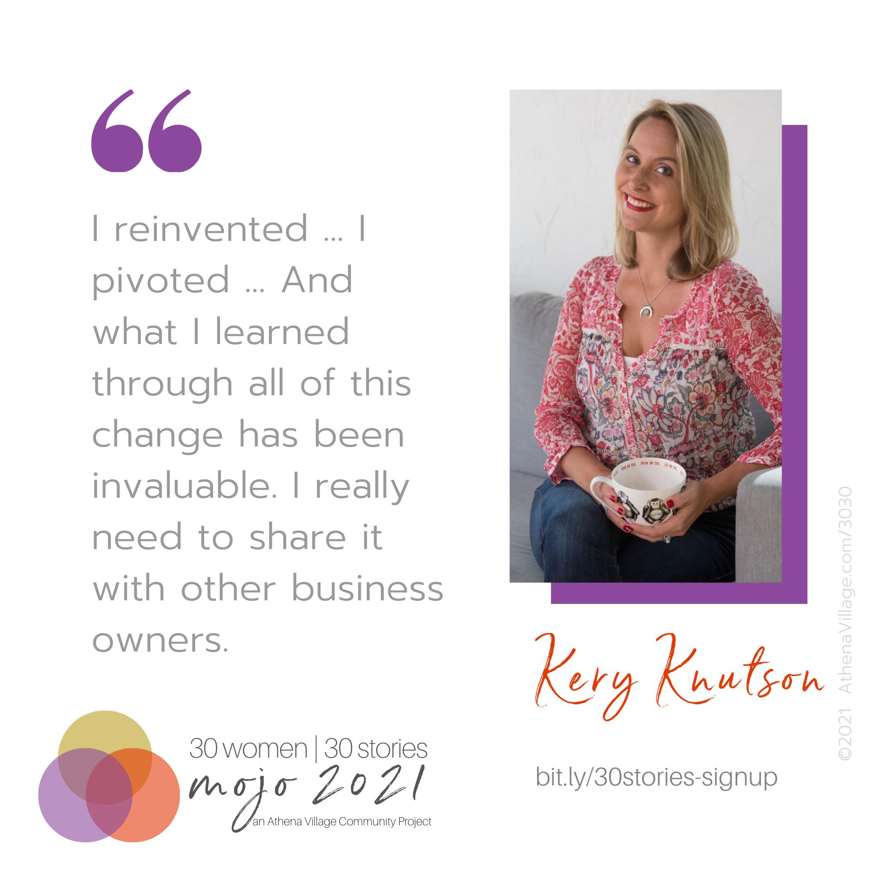30 Women, 30 Stories: Meet Kery Knutson